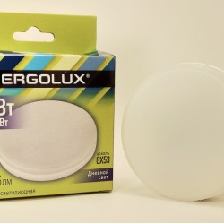 Ergolux GX53 св/д 15W(1425lm) 6500K 6K матовая 74x28 LED-GX53-15W-GX53-6K