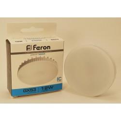 Feron GX53 12W(1000lm) 6400K 6K матовая 73х28 LB-453 25868