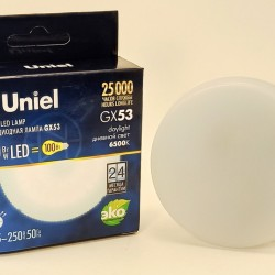 Uniel GX53 св/д 10W(900lm) 6500K 6K 75х26 матовая LED-GX53-10W/6500K/GX53/FR