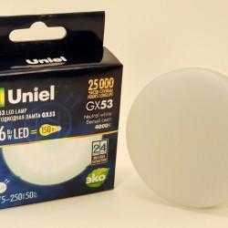 Uniel GX53 св/д 16W(1400lm) 4000K 4K 75x30 матовая LED-GX53-16W/NW/GX53/FR