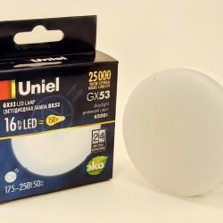 Uniel GX53 св/д 16W(1400lm) 6500K 6K 75х30 матовая LED-GX53-16W/6500K/GX53/FR